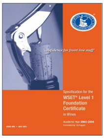 WSET® Level 1 Award in Wines